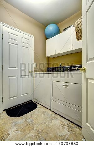 Simple Laundry Room Interior