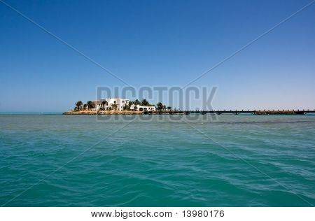 Beautiful view on the shore of El Gouna. Egypt.