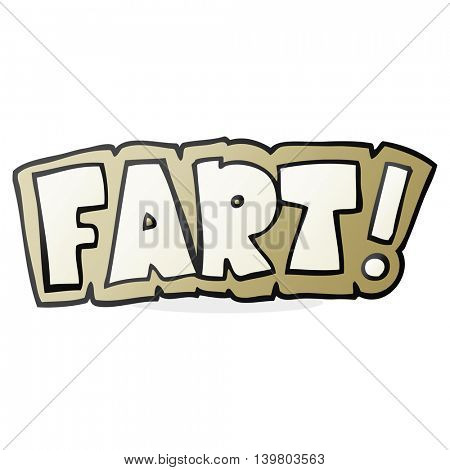 freehand drawn cartoon fart symbol