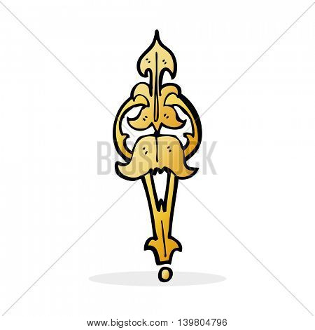 cartoon ornate clasp