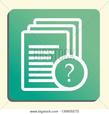Files Help Icon In Vector Format. Premium Quality Files Help Symbol. Web Graphic Files Help Sign On