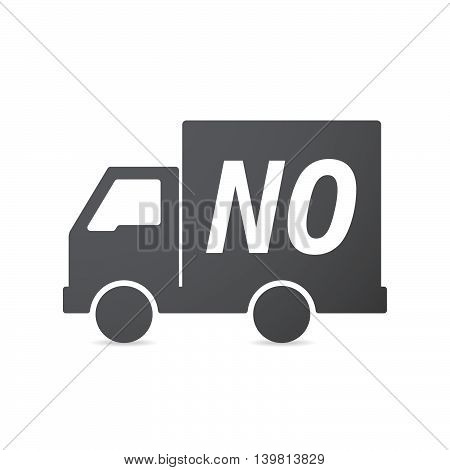 Isolated Truck Icon With    The Text No