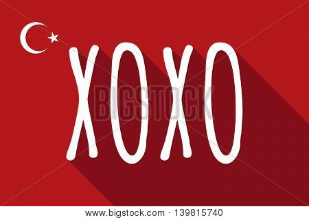 Long Shadow Turkey Flag With    The Text Xoxo
