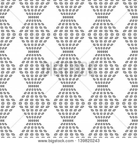 Rhombus chaotic seamless pattern. Fashion graphic background design. Modern stylish abstract texture. Monochrome template for prints textiles wrapping wallpaper website. Stock VECTOR illustration