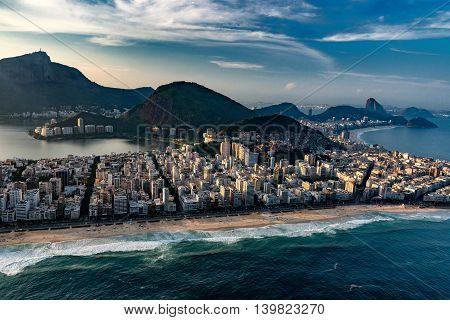 Ipanema neighborhood in Rio De Janeiro, horizontal image