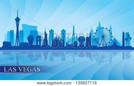 Las Vegas City Skyline Silhouette Background