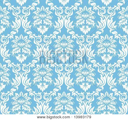 Abstract damask seamless vector background for design use