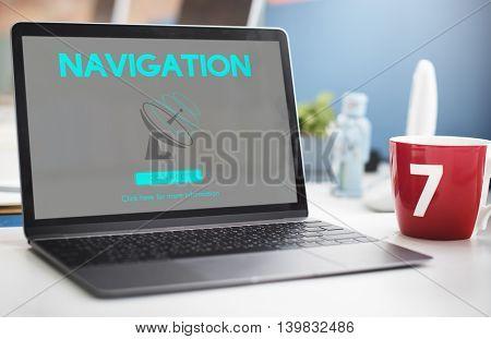 Boardcast Data Transmission GPS Navigation Concept