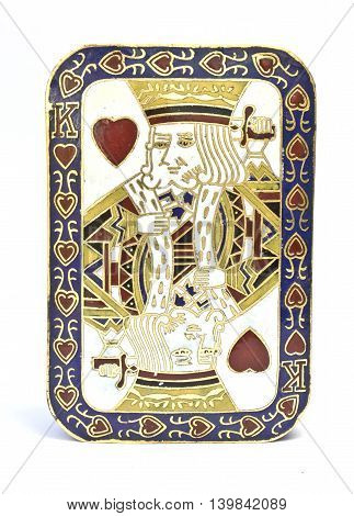King Of Hearts Card On Ornate Trinket Box