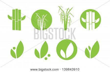 Sugar cane icons set vector illustration eps 10