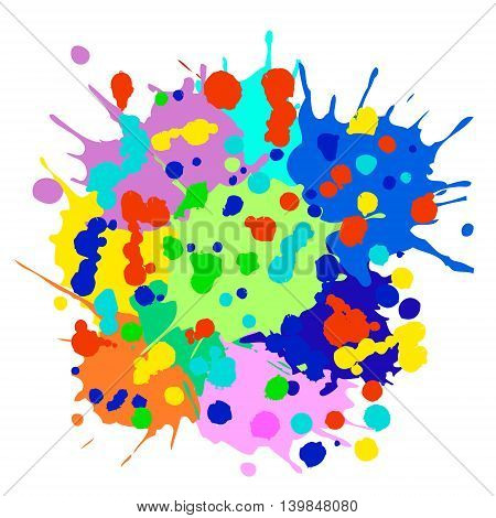 Vector Splash, Blots And Brush, Graphic Illustration