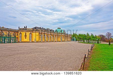 Sanssouci Summer Palace And Terrace In Sanssouci Park In Potsdam