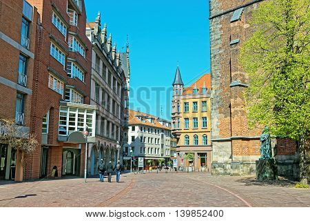 View Of The Market Square In Hanover In Germany