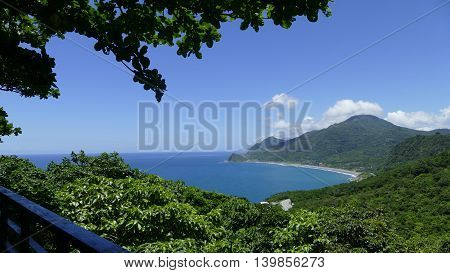 Beautiful Beach On The East Of Taiwan With Nice View And Sea