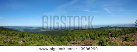 Panorama of the Owl Mountains