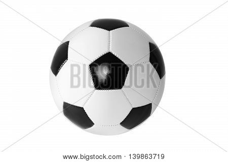 A Black and white soccer ball isolated.
