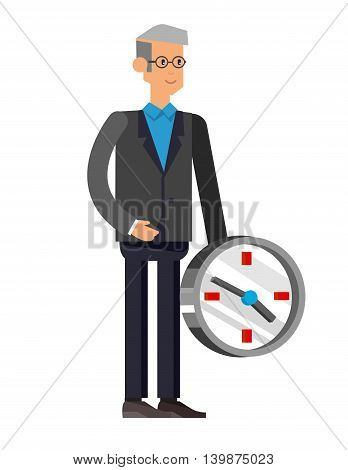 Vector detailed character office worker isolated on white background, business men lifestyle