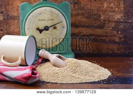Vintage Kitchen With Quinoa Grain