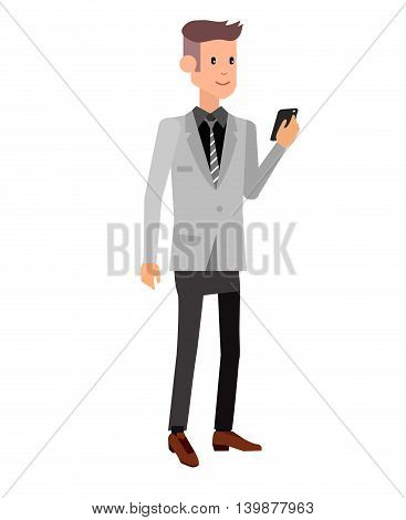 Vector detailed character creative business men isolated on white background