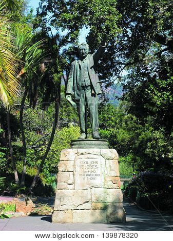 Statue Of Sir Cecil John Rhodes, Who Was Governor Of the Cape, South Africa, In The Early 1900s