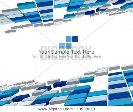 Abstract 3d checked  business background for use in web design poster