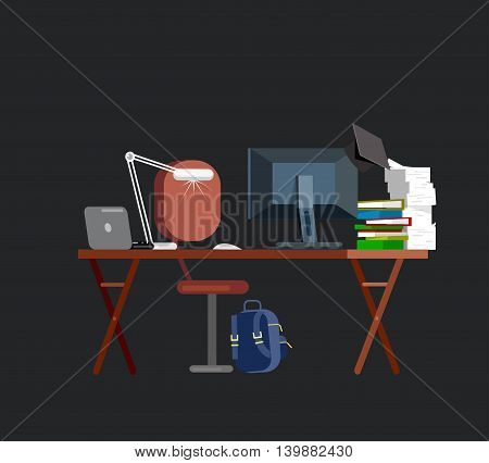 Vector detailed objects for education. Flat illustration
