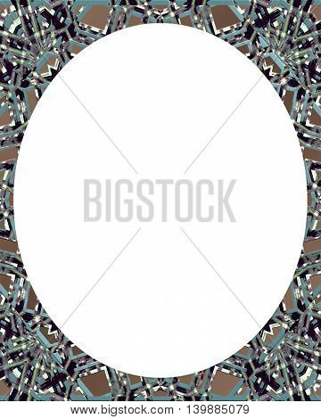 Circle White Background With Decorated Round Borders