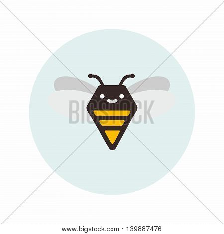 Abstract illustration of a bee. Possible to use as an element for the logo . You can apply as an illustration for children s books and more
