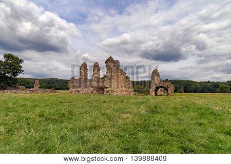 Waverley Abbey ruins in Surrey, near Farnham