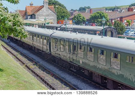 Mark 1 rolling stock on the Swanage railway