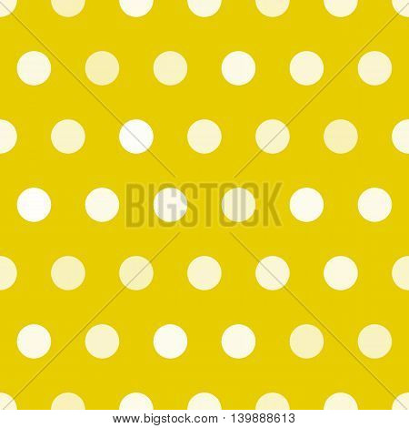 Dotted texture, gold and white circles vector seamless pattern. Polkadot seamless pattern. Print for carpet, textile