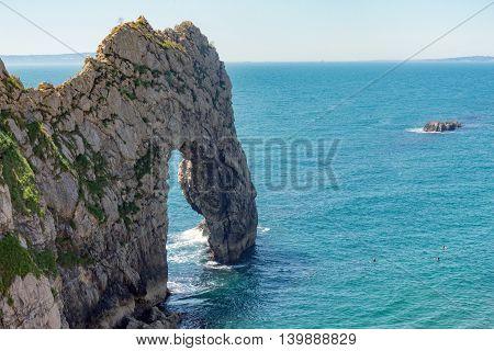 Durdle Door rock on the UK's Jurassic coast, Dorset