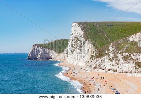 Durdle Door beach on the UK's Jurassic coast, Dorset
