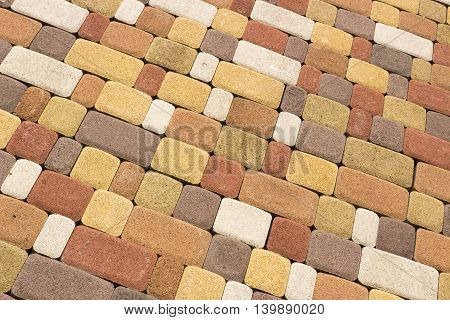 Colored Background And Texture From Paving Slabs
