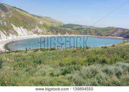 Lulworth Cove on the UK's Jurassic Coast