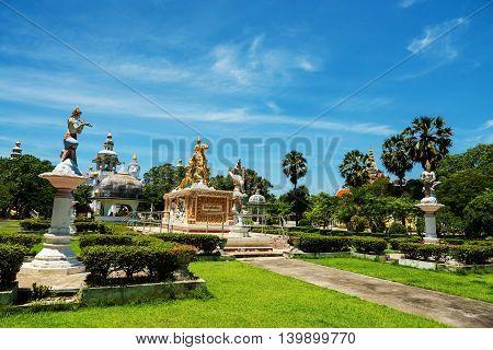 Sithata Buddha Monument At Wat Phai Rong Wua
