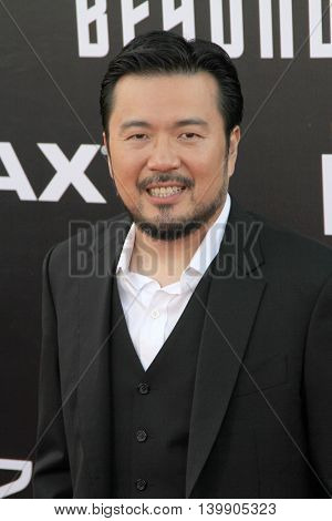 Justin Lin attends at the Star TreK Beyond  premiere during Comic Con on July 20, 2016 at the Embarcadero Marina Park South in San Diego, CA.