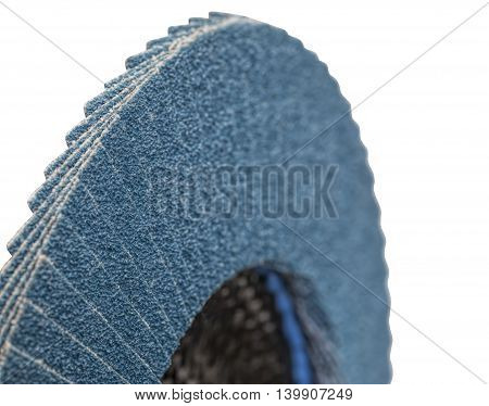 abrasive disk for metal grinding, cutting isolated on white background poster