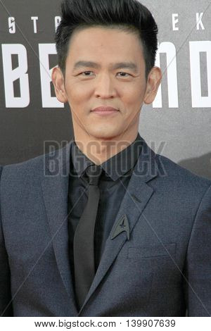 John Cho attends at the Star TreK Beyond  premiere during Comic Con on July 20, 2016 at the Embarcadero Marina Park South in San Diego, CA.