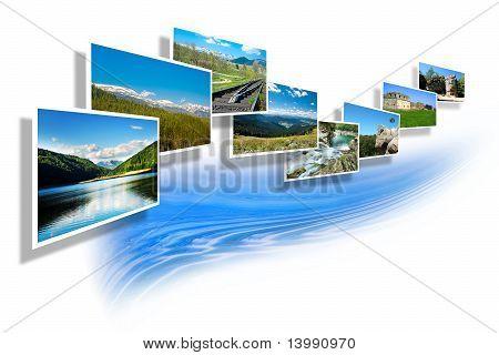 Landscape Photos On White