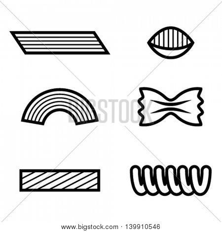 pasta black line icon vector