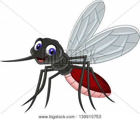cute mosquito cartoon flying for you design