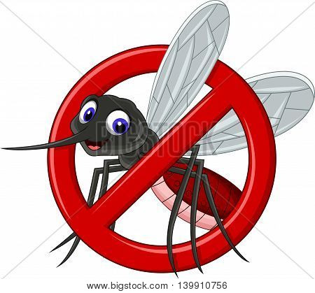 cartoon no mosquito symbol for you design
