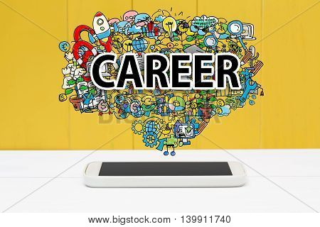 Career Concept With Smartphone