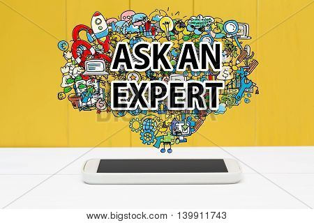 Ask An Expert Concept With Smartphone