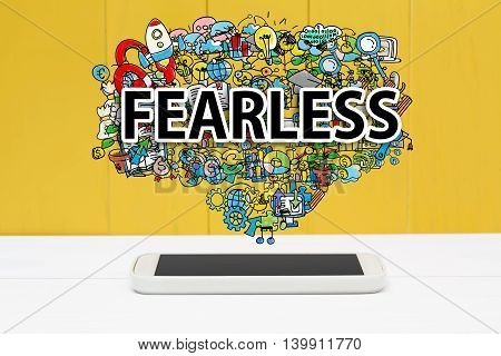 Fearless Concept With Smartphone