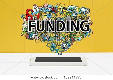 Funding Concept With Smartphone