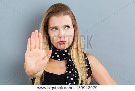 Young Woman Making A Rejection Pose