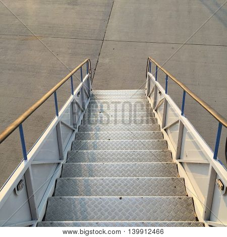 Metal Airport Steps