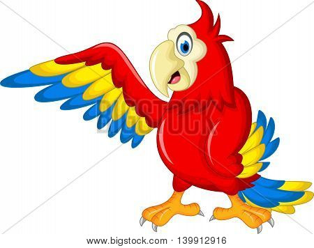 funny Macaw wing bird for you design